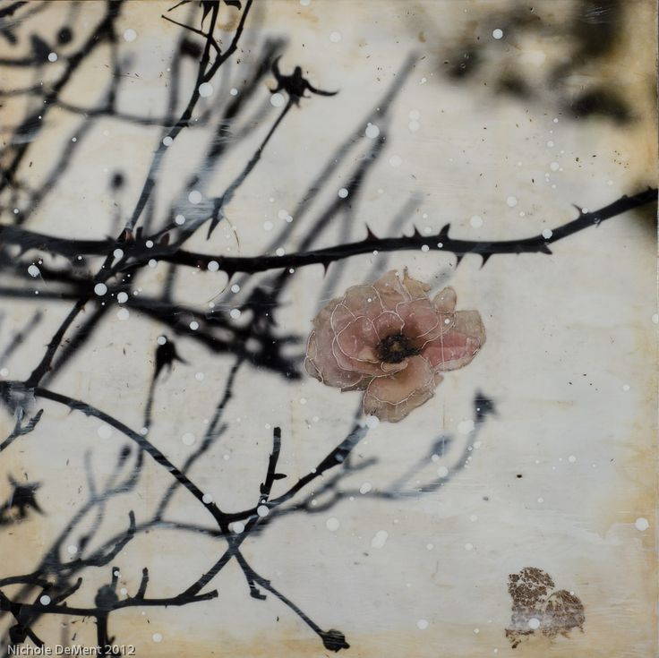 Nichole DeMent - encaustic mixed media
