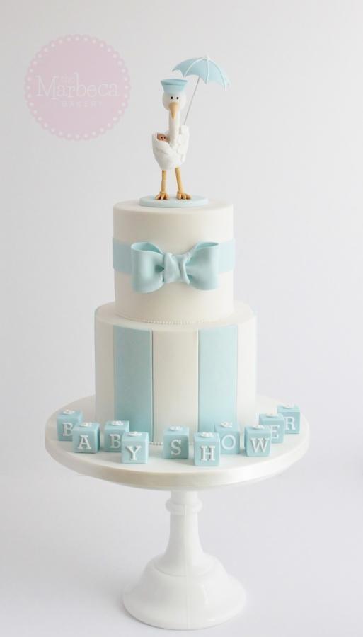 Stork Baby Shower Cake                                                                                                                                                                                 More