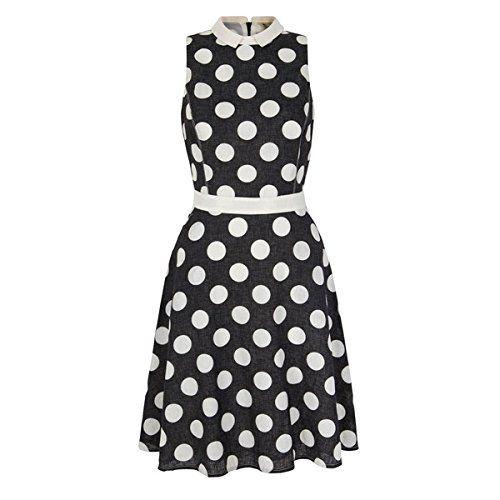 (ユミキム) Yumi レディース ドレス カジュアルドレス Yumi Polka Dot Shirt Dress 並行輸入品  新品【取り寄せ商品のため、お届けまでに2週間前後かかります。】 カラー:ブラック 素材:-