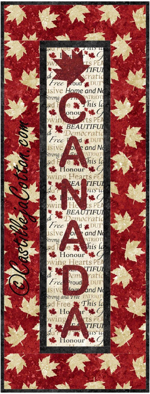 Canada Panel Wall Quilt ePattern, 4816-1, Canada wall quilt pattern, Canada wall quilt hanging by castillejacotton on Etsy https://www.etsy.com/ca/listing/238456727/canada-panel-wall-quilt-epattern-4816-1