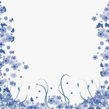 Fondo Flores Azules Png