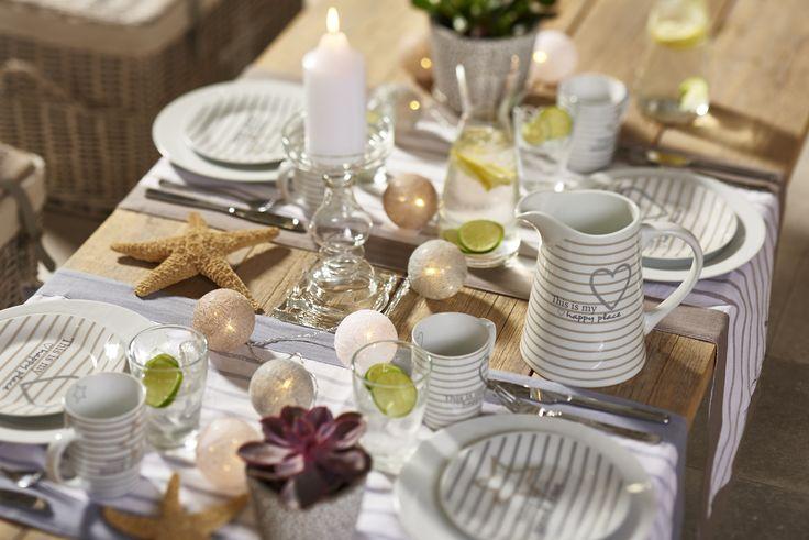 Wunderschöne sommerliche Tischdekoration - bringt zu jeder Jahreszeit Sommerlaune auf!