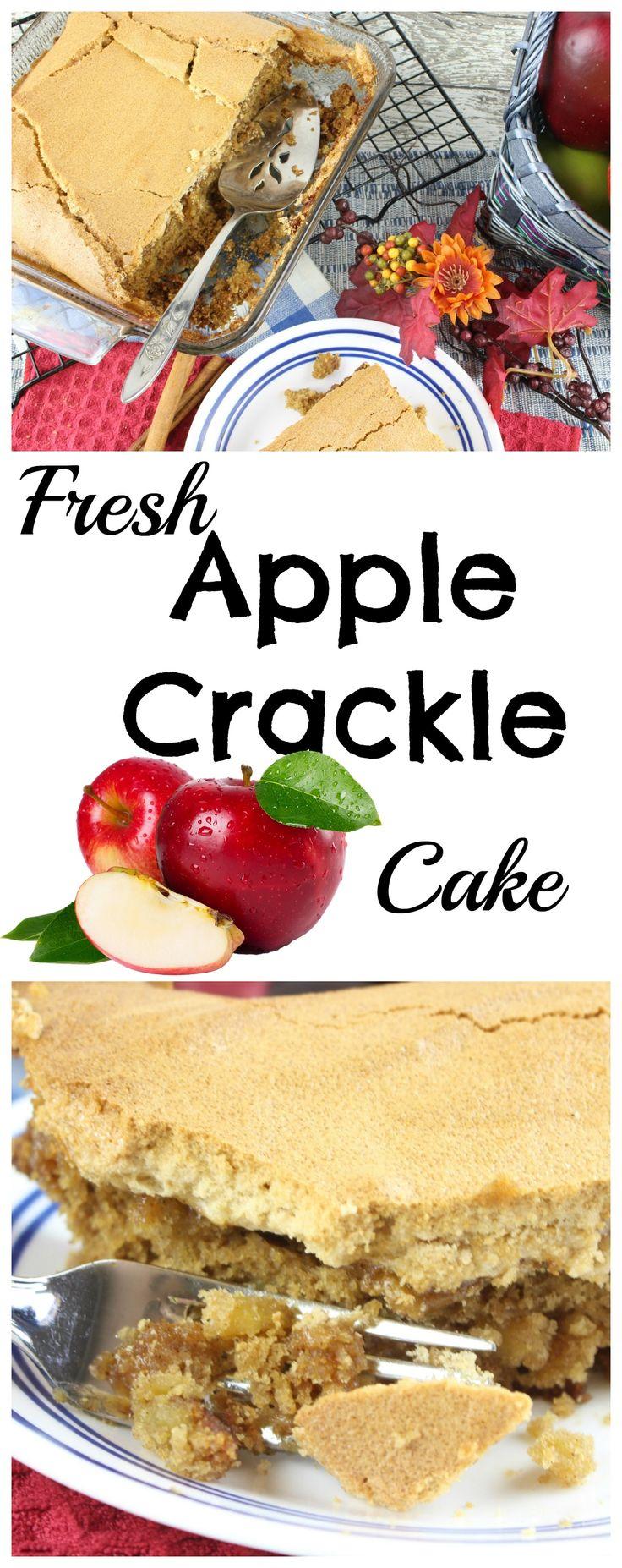 Fresh Apple Crackle Cake ~ https://www.southernplate.com