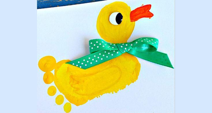 Laat je kinderen van hun eigen voetafdruk het meest schattige eendje maken. Het…
