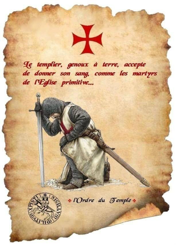 Image Gallery knight templar praying