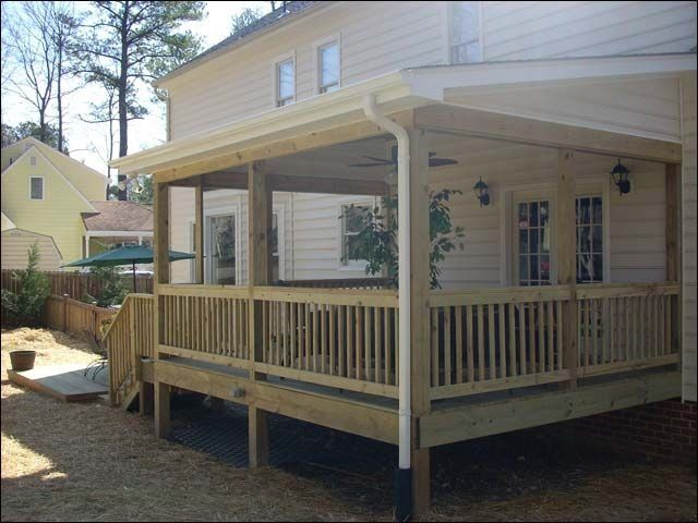 Shed Style Roof Modern Design Backyard Porch Decks And Porches Outdoor Deck Decorating