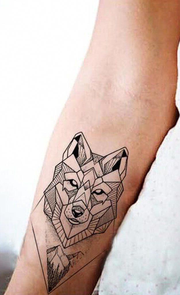 Geometric Wolf Wrist Tattoo Ideas For Women Cool Unique Fox Animal Forearm Tat Ideas Geomet Geometric Tattoo Pattern Geometric Tattoo Geometric Wolf Tattoo