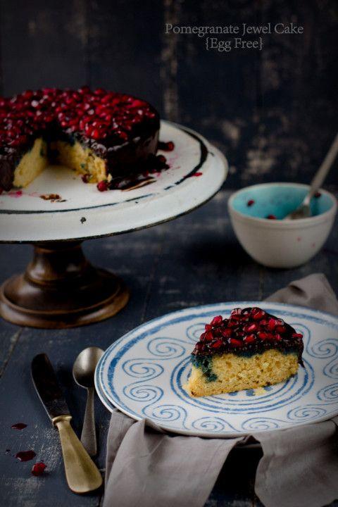 Pomegranate Jewel Cake  met Griekse yoghurt glazuur?
