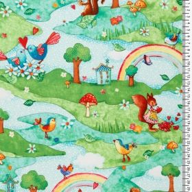 Rainbow Woodland - Materiale textile online