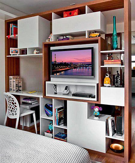 Selecionei 12 ideias para ter um office em ambientes pequenos...