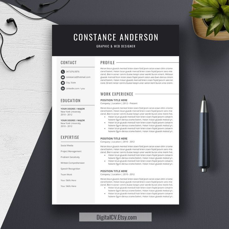 Best Resume Templates Images On   Cv Template