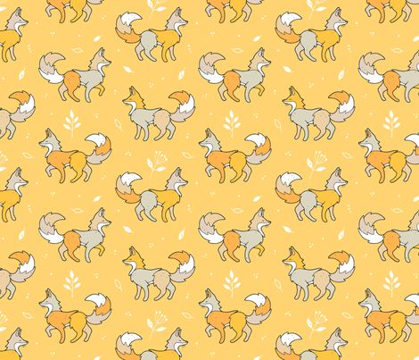 Forest Fox fabric by nossisel on Spoonflower - custom fabric