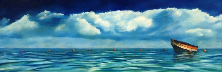 OUT TO LUNCHby Damien Flowers Seascapes for Sale - ART101 Art Gallery & Framing