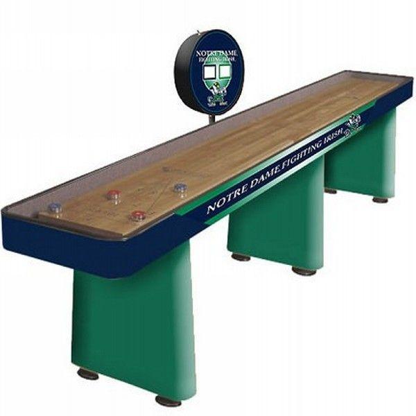Notre Dame Shuffleboard Table