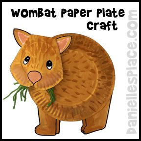 Loads of tutorials for Australian animal craft ideas and related storybook suggestions from Danielle's Place, including this cute paper plate wombat.