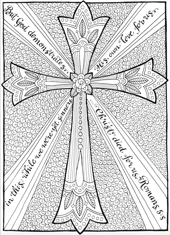 free christian coloring pages for adults roundup - Coloring Pages Website