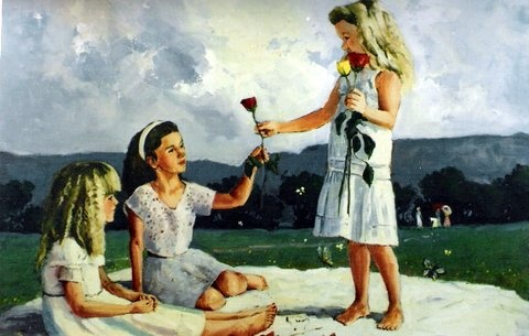 Girls painted by SA artist John Smith
