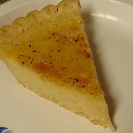 Amish Sugar Cream Pie with 100 Year Old Pie Crust