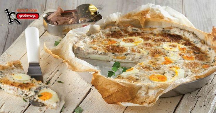 Con Una Lata deAtún  unoshuevos  yMasa Quebrada  una buena receta deTarta  salada, mirar la receta pulsando en la foto, y compartirla si os gusta, gracias. http://kanelamonje.blogspot.com.es/2017/02/tarta-de-atun.html