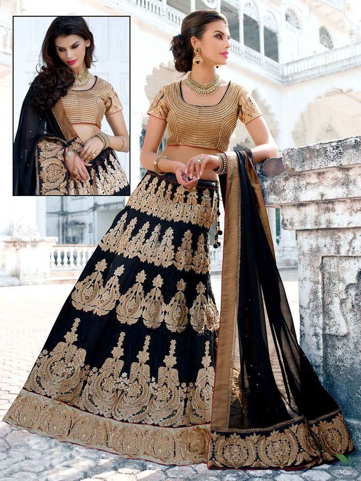 Dazzle and excite with this truly gorgeous lehenga.  Item Code: GHP1116 http://www.bharatplaza.com/new-arrivals/lehengas.html