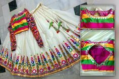 Amp langa voni on pinterest half saree black lehenga and saree