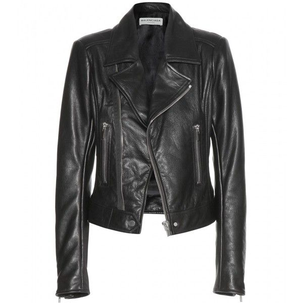 Balenciaga Leather Biker Jacket found on Polyvore