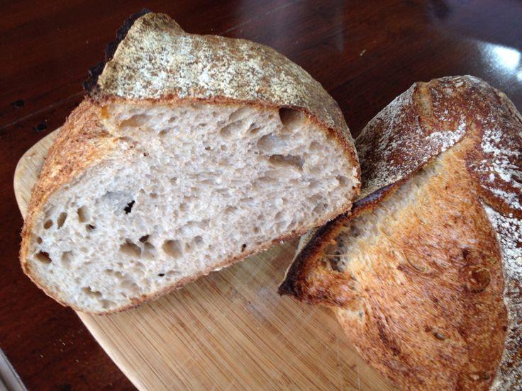 It makes sense to use high quality flour. #Raimugido wheat sourdough for breakfast.