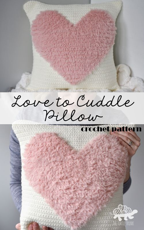 Love to Cuddle Pillow pattern by The Turtle Trunk | crochet