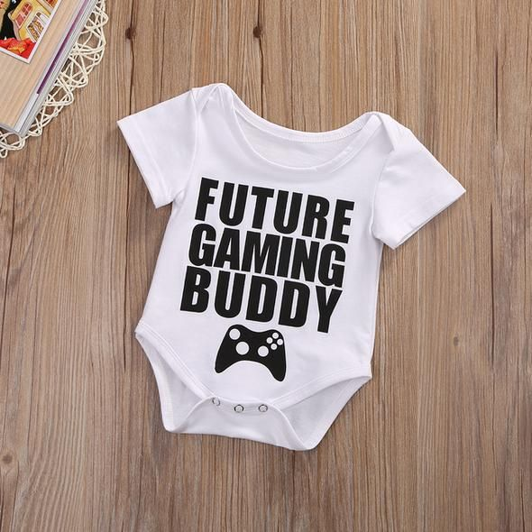 3 style newborn baby girl boy letter printed romper cotton Shor – eoseg …   – Rompers