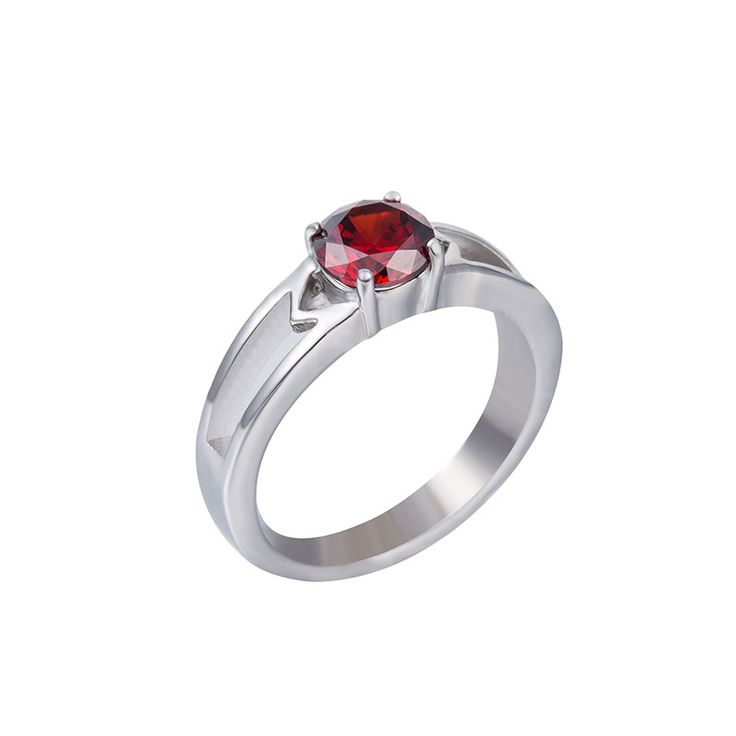 WAWFROK Fashion Inoxidable Anillos Red White Blue And Purple And Rings CZ 316L Stainless Steel Ring Women Wedding Ring R-133