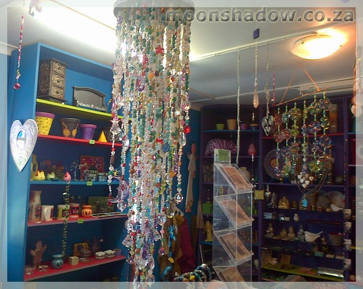 Colourful Bead Cascades and mobiles #handcrafted at Moonshadow Gift Shop.  #Swellendam #Overberg #SouthAfrica