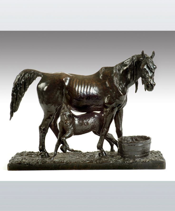 A beautifully sculpted bronze depicting a mare and her foal and entitled 'Jument et sons & Poulain'. By Christophe Fratin 1801-1864, one of the leading animalier sculptors of Nineteenth Century France. His training with the great artist Gericault refined this natural ability and led to him being one of the most sought after sculptors in Nineteenth Century France. #Fratin #sculpture #bronze #design