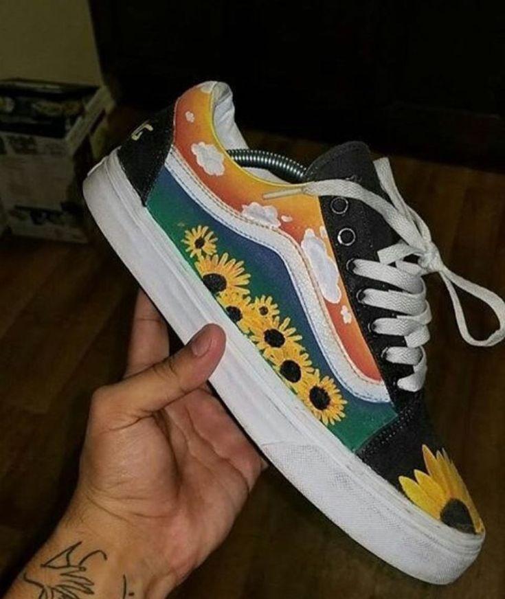 Custom Vans Shoes, Aesthetic Shoes