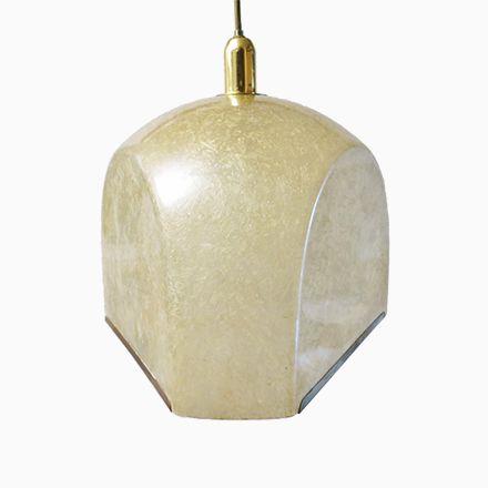 Vintage Tricia Glasfaser und Messing Hängelampe von Salvatore Gregorie... Jetzt bestellen unter: https://moebel.ladendirekt.de/lampen/deckenleuchten/deckenlampen/?uid=896fcb6b-78b9-5ee9-a04f-fa1695a280c0&utm_source=pinterest&utm_medium=pin&utm_campaign=boards #deckenleuchten #lampen #deckenlampen