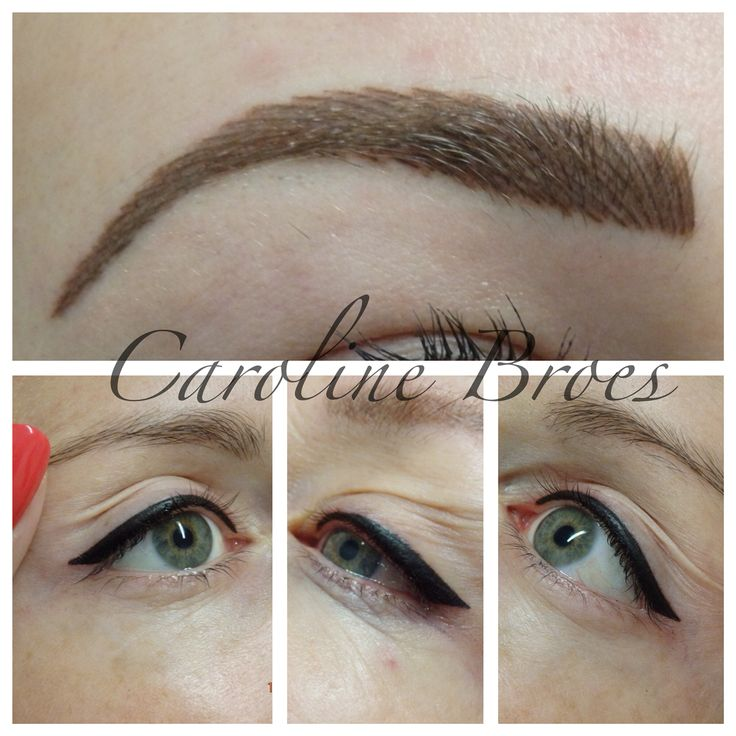 Hairstroke Brows and eyeliner :) my style my work