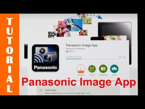 (4) Demonstrating the Panasonic image app on an Android device - YouTube