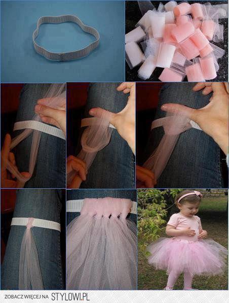 łatwy sposób na spódniczkę dla małej baletnicy na Stylowi.pl