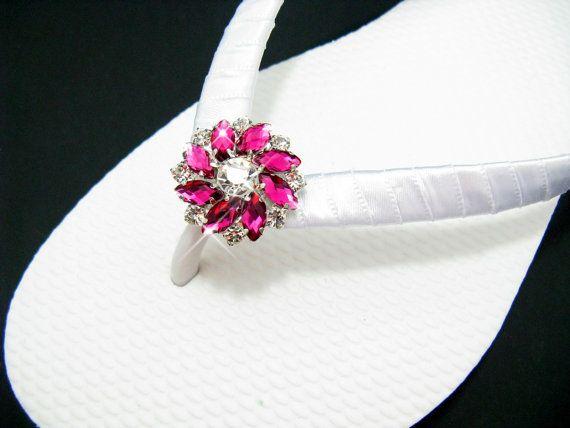 Bridal Flip Flops Prom Shoes Bridesmaid Flip by kjcreations4u, $24.95
