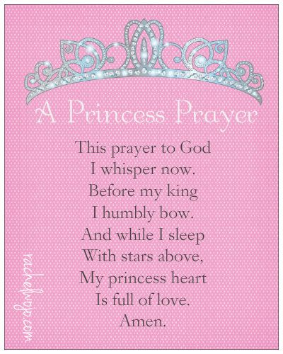 A Princess Prayer- written for daughters of the King everywhere