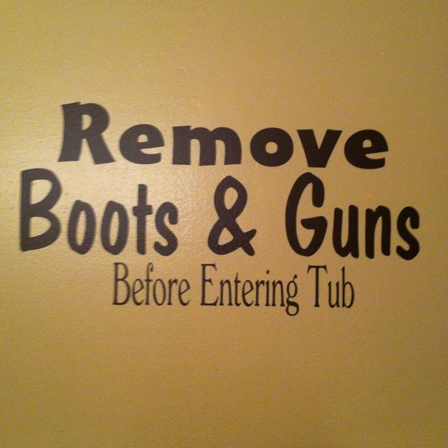 My camo/hunting bathroom lol!