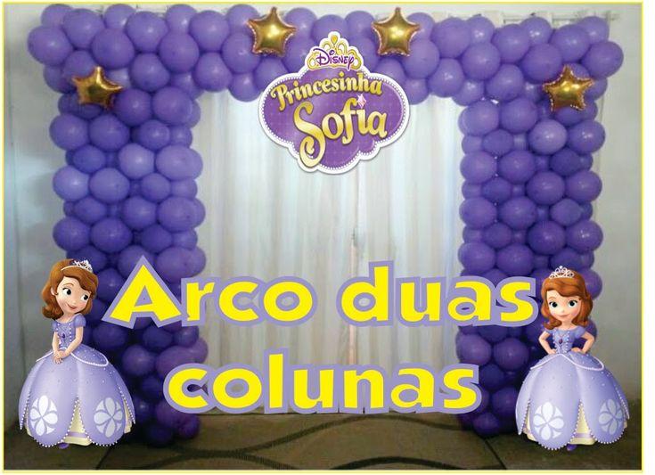 Como Fazer ARCO DE BALÕES QUADRADO /PRINCESA SOFIA