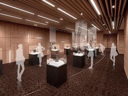 Korea University Museum Remodeling Design GeschichtePavillonMuseumGalerieFlagInterior
