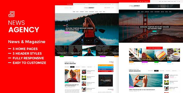 awesome News Agency - News Magazine Newspaper WordPress Theme (News / Editorial)