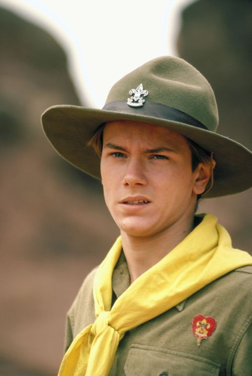 River as young Indiana Jones