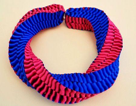 Como hacer collares con cintas: Ideas, Tutorial, Colorblock Ribbon, Buttons Ribbons Diy, Colorblock Necklace, Crafts