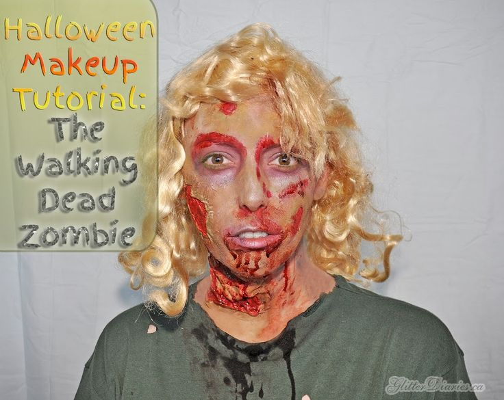 Halloween Makeup Tutorial: The Walking Dead Zombie #halloweenmakeup #thewalkingdead