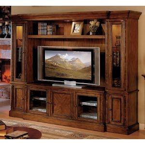 Legends Furniture Cambridge Collection Chestnut Entertainment Wall Unit Entertainment