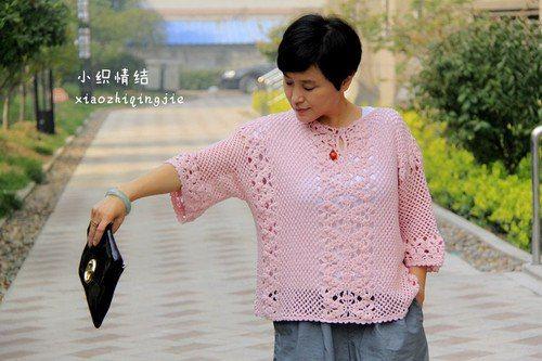 Свободная блуза крючком. Обсуждение на LiveInternet - Российский Сервис Онлайн-Дневников