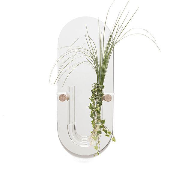 You-Tube Wall Vase with Mirror // Medium (3 kleuren) - Van Tjalle en Jasper. Dutch Design. Welcome home.