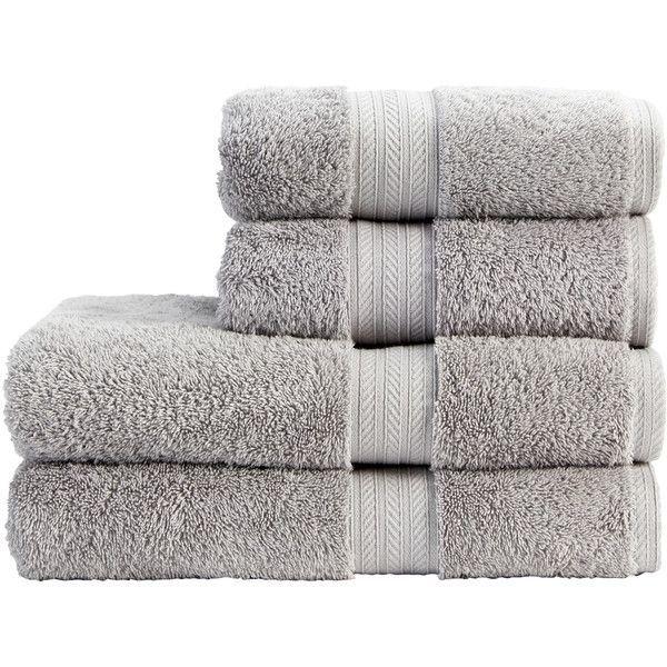 Classic Renaissance Wash Cloth Color: Dove Grey found on Polyvore featuring home, bed & bath, bath, bath towels, egyptian cotton bath towels, christy bath towels and colored bath towels Top Home Products...